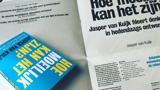 boek met columns van Jasper van Kuijk